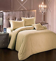Комплект постельного белья Love You Евро Страйп-сатин 200х220 см Светло-бежевый