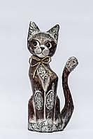 Статуэтка кота с бантиком, 25 см