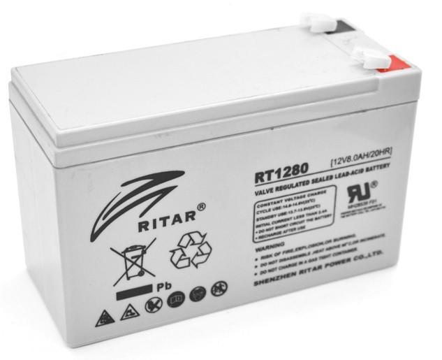 Акумулятор для ДБЖ Ritar RT1280 (12V 8.0 Ah)