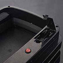 Сенсорное мусорное ведро JAH 30 л прямоугольное черный металлик без внутреннего ведра, фото 2