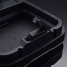 Сенсорное мусорное ведро JAH 30 л прямоугольное черный металлик без внутреннего ведра, фото 3