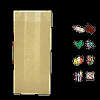 Бумажный пакет без ручек крафтовый 170х90х50мм (ВхШхГ) 70г/м² 100шт (1390)