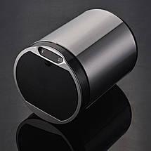 Сенсорное мусорное ведро JAH 9 л круглое черный металлик с внутренним ведром, фото 3