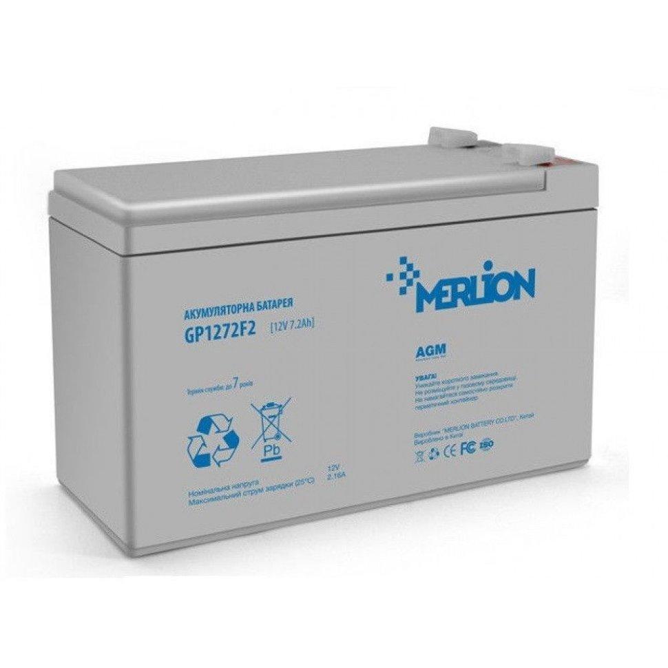 Акумулятор для ДБЖ MERLION AGM GP1272F2 12 V 7,2 Ah (150 x 65 x 95 (100)) White Q10