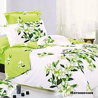 Комплект постельного белья Вилюта Натхнення семейный Салатовый с белым