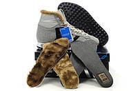 Кроссовки зимние Adidas chewbacca с мехом серые