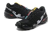 Черные кроссовки мужские Salomon Speedcross 3