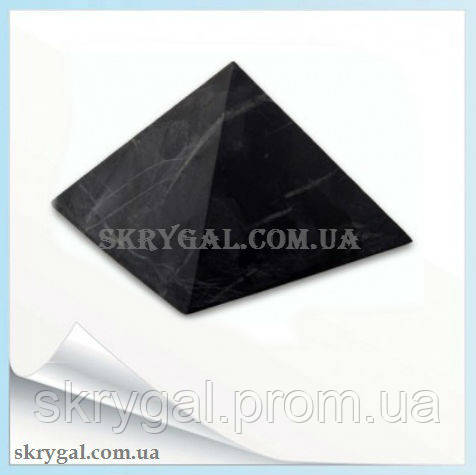 Пирамида шунгитовая 25*25 шунгитовый гармонизатор, шунгит камень.