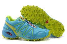 Соломон кроссовки женские Salomon Speedcross 3 Голубые