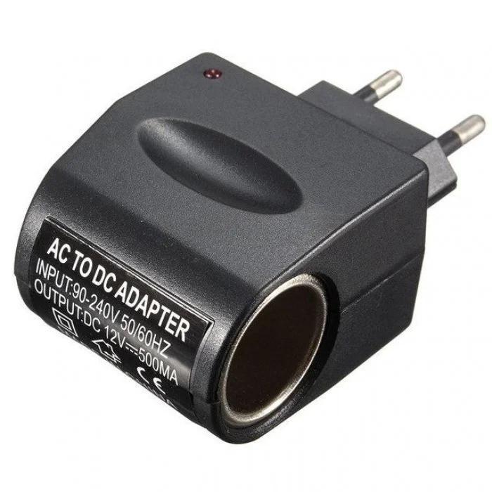 Адаптер-перехідник на прикурювач 220V/12V 500MA