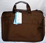 Текстильная синяя сумка для ноутбука на змейке 43*32 см, фото 4