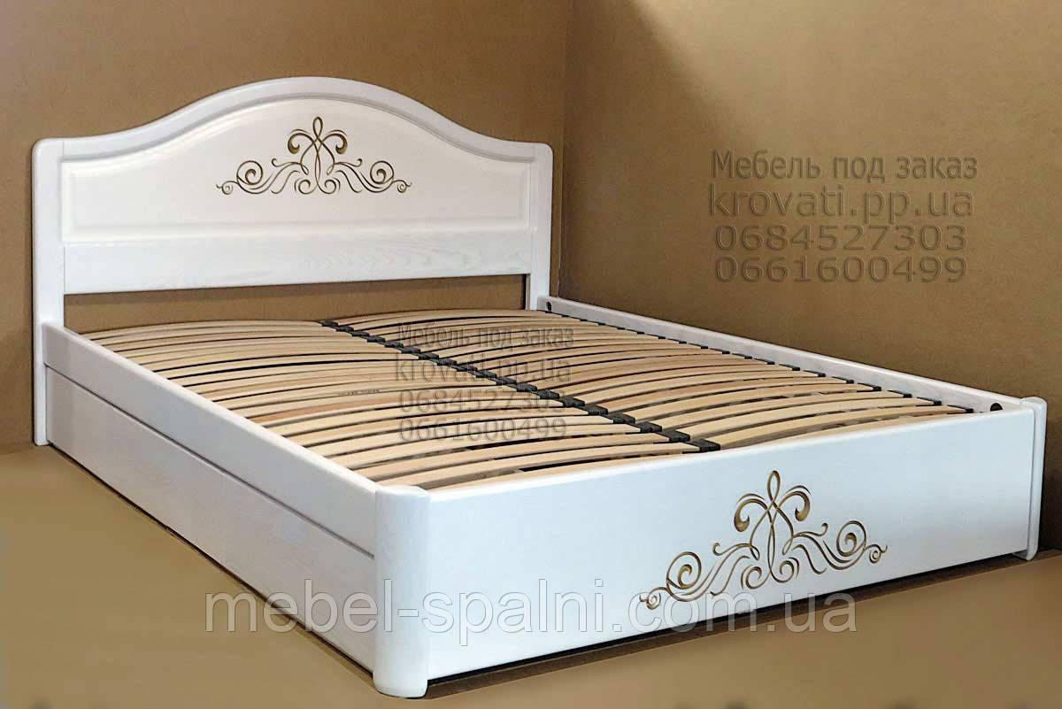 """Двуспальная кровать - Киев. Кровать деревянная с подъёмным механизмом """"Виктория"""" kr.vt7.2"""