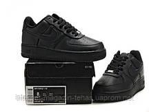 Кроссовки черные кожаные мужские Nike Air Force Low