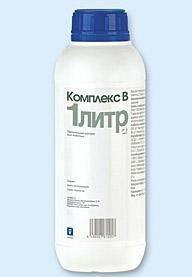 Комплекс В 1 л INVESA (Испания) водорастворимый комплекс витаминов группы В для животных и птицы..