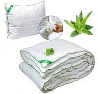 Одеяло с Подушкой 140x205 пропитка Алое Вера полуторное 200г/м2 Руно (321.52Aloe Vera)