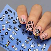 Наклейки для ногтей микки маус Fashion Nails ( Водный Слайдер -дизайн Микки Маус ) W58