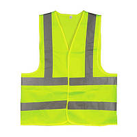 Жилет сигнальный зеленый XL (60*70см), 120 гр/м2 INTERTOOL SP-2027