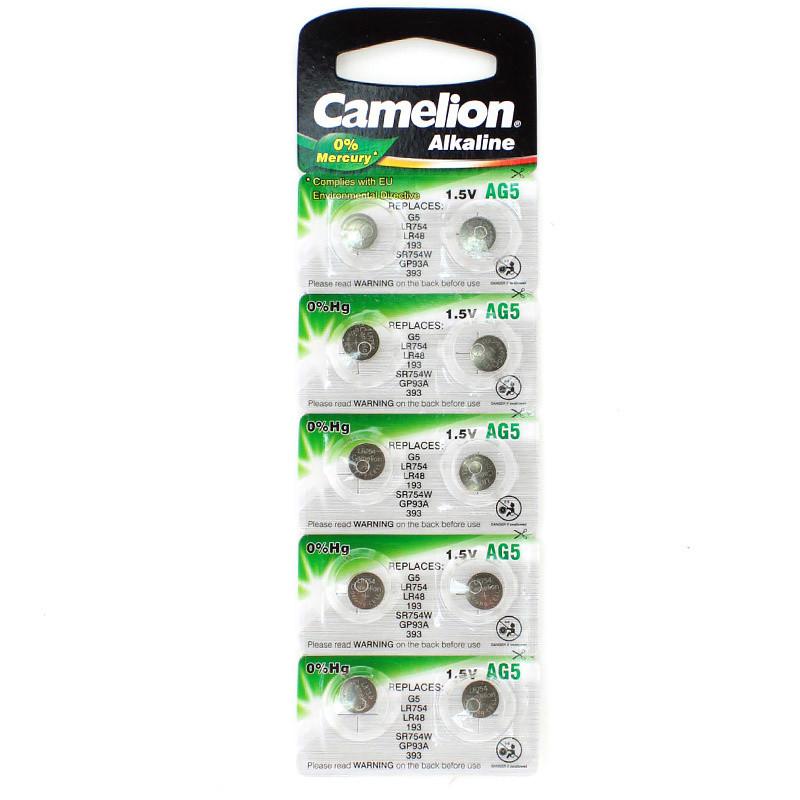 Батарейки Camelion AG5 LR754