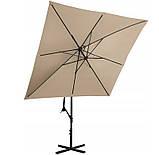 Зонт садовый Uniprodo квадратный 250 х 250см 7 Цветов, фото 4