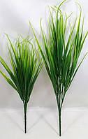 """""""Осока широколистная 30-36см"""", искусственная  зеленая трава для интерьера(зеленые кусты)"""