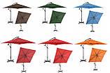 Зонт садовый Uniprodo квадратный 250 х 250см 7 Цветов, фото 10