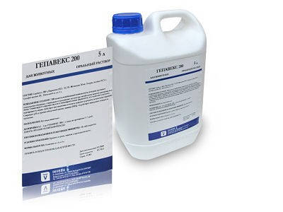 Гепавекс плюс 5 л INVESA (Испания) антистрессовое и иммуностимулирующее средство для животных и птиц.