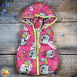 Жилетка с капюшоном для маленькой девочки Размер: 1,2,3 года (20139-2)