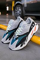 Кроссовки мужские весенние осенние качественные модные Adidas Yeezy Boost 700 Wave Runner Solid