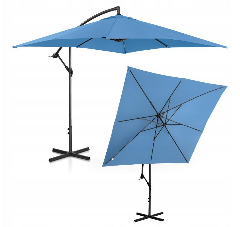 Зонт садовый Uniprodo квадратный 250 х 250см 7 Цветов