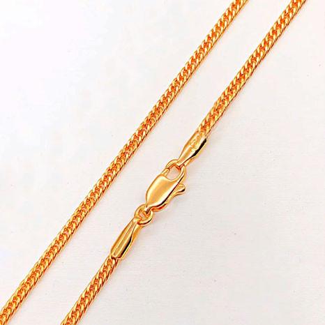"""Цепочка Xuping Jewelry 51 см х 2 мм """"Кобра"""" медицинское золото, позолота 18К. А/В 4290"""