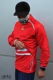 Мужская ветровка Jordan (red), красный анорак Jordan, фото 2