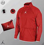Мужская ветровка Jordan (red), красный анорак Jordan, фото 7