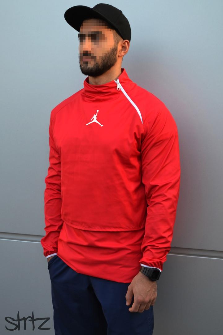 Мужская ветровка Jordan (red), красный анорак Jordan