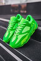 Кросівки чоловічі весняні осінні якісні модні Adidas Yeezy Boost 700 Neon Green, фото 1