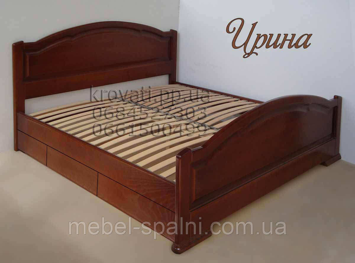 """Большая кровать 2х спальная. Кровать двуспальная деревянная с ящиками """"Ирина"""" kr.ir6.1"""