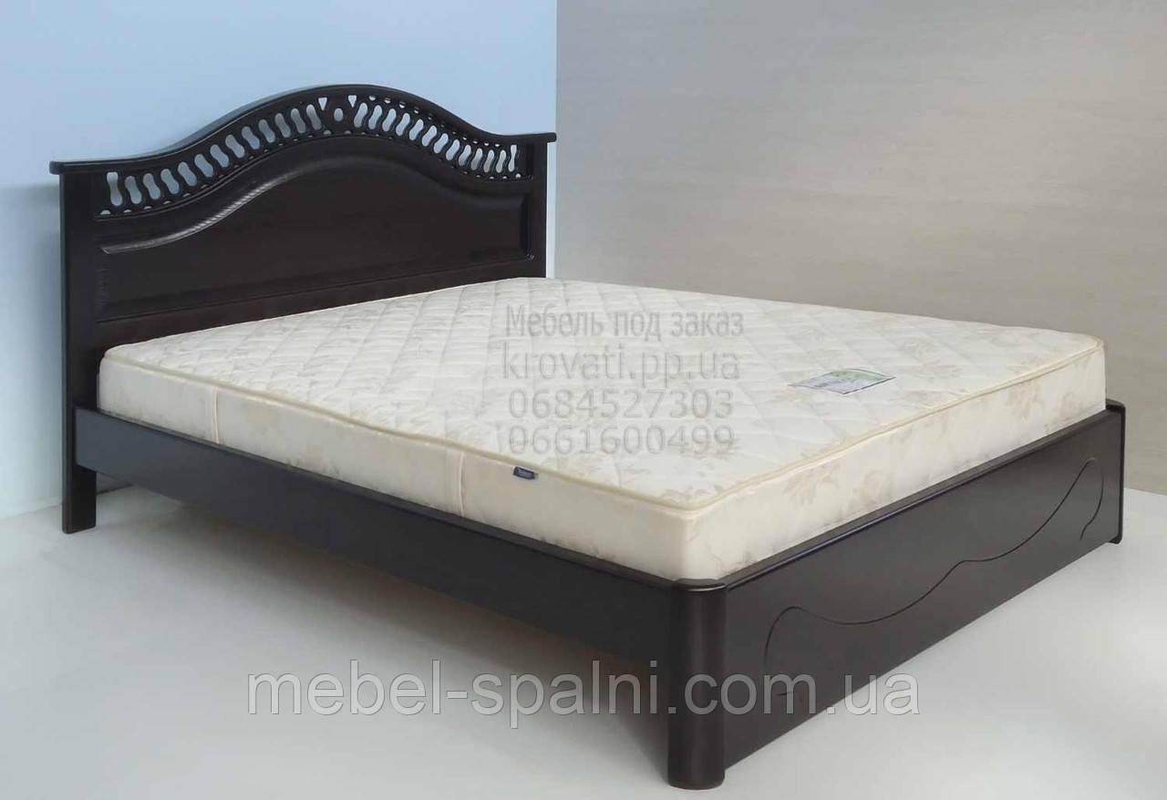 """Большая кровать 2х спальная. Кровать двуспальная деревянная """"Глория"""" kr.gl3.1"""