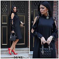 Элегантное вечернее чёрное женское платье Турция L