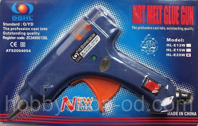 Клейовий пістолет HL-E20W для рукоділля під стрижні 7 мм.