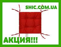 Подушка на стул красная 40х40  борт 5 см. Подушки на стулья. Подушки на табурет. Чехол на стул. Чехлы на стул.