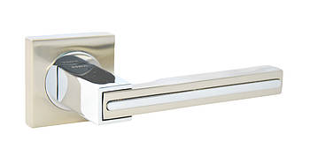 Ручка дверна на розетці SIBA Galaxy, мат.нікель-хром