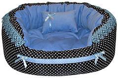 Лежак-диван Luxury Corsica (голубой) для собак и кошек