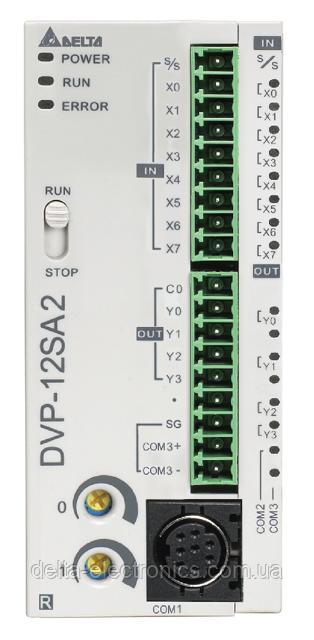 Базовый модуль контроллера серии SA2 Delta Electronics, 8DI/4DO тр., 24В, RS232, RS485, DVP12SA211T