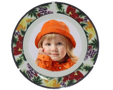 Керамическая тарелка с орнаментом d=200мм