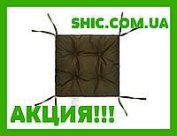 Подушка на стул хаки 40х40 см борт 5 см. Подушки на стулья. Подушки на табурет. Чехол на стул. Чехлы на стул.