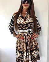 Оригинальное женское платье Versace с поясом Турция размер S