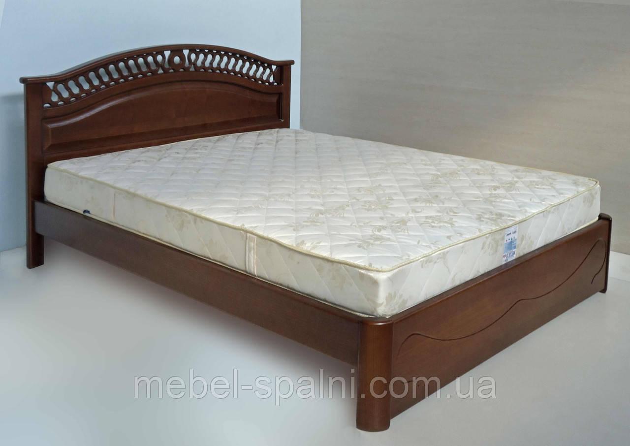 """Кровать 2 спальная. Кровать двуспальная деревянная """"Глория"""" kr.gl3.2"""