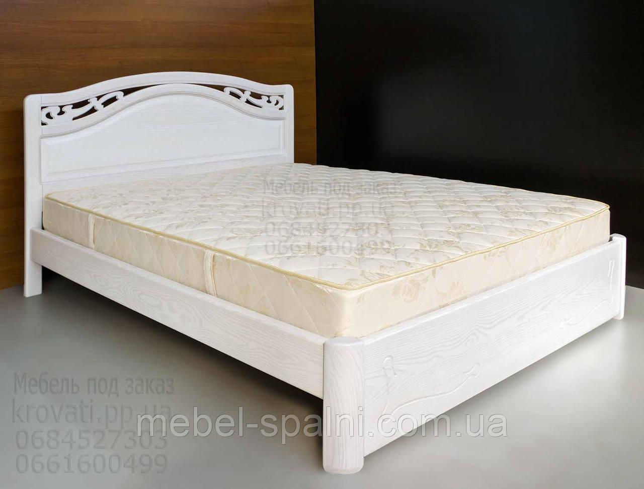 """Кровать 2 спальная. Кровать двуспальная деревянная """"Марго"""" kr.mg3.3"""
