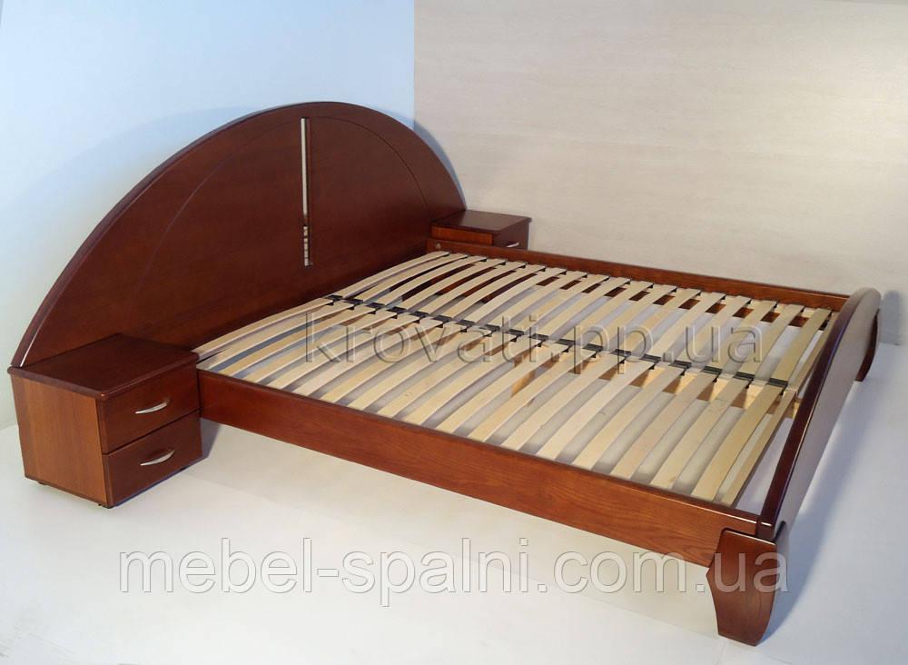 """Кровать 2 спальная. Кровать двуспальная деревянная с тумбами """"Людмила"""" kr.lm3.2"""