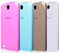 Силиконовый чехол для Huawei Honor 3C H30-U10 супертонкий 0.3 мм