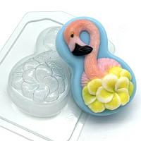 Пластиковая форма для мыла 8 Марта / Фламинго с цветами